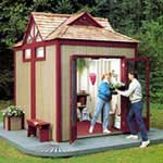 Garden Shed with Gabled Roof